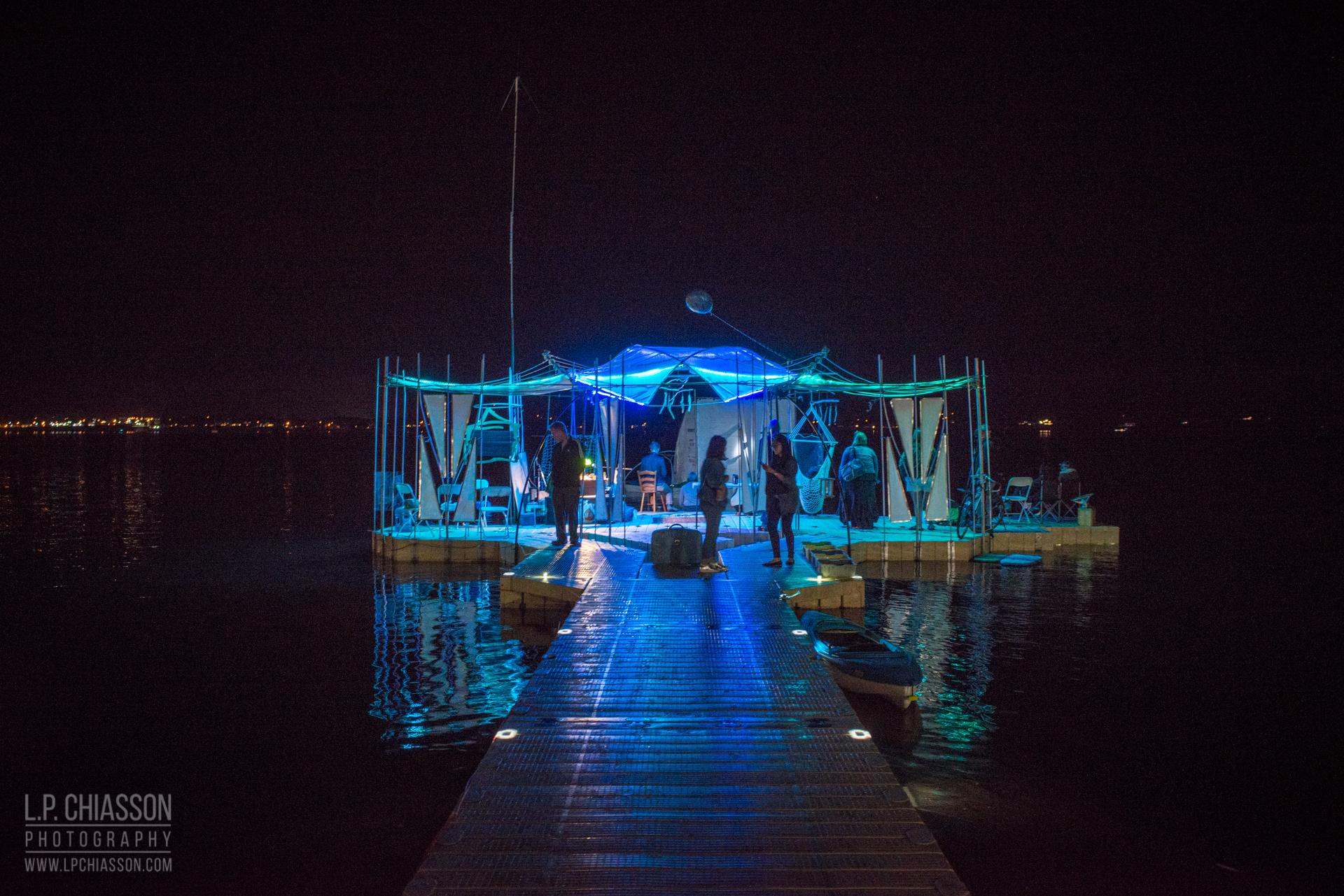 The Floating Warren Pavilion. Photo: LP Chiasson & Festival Inspire.