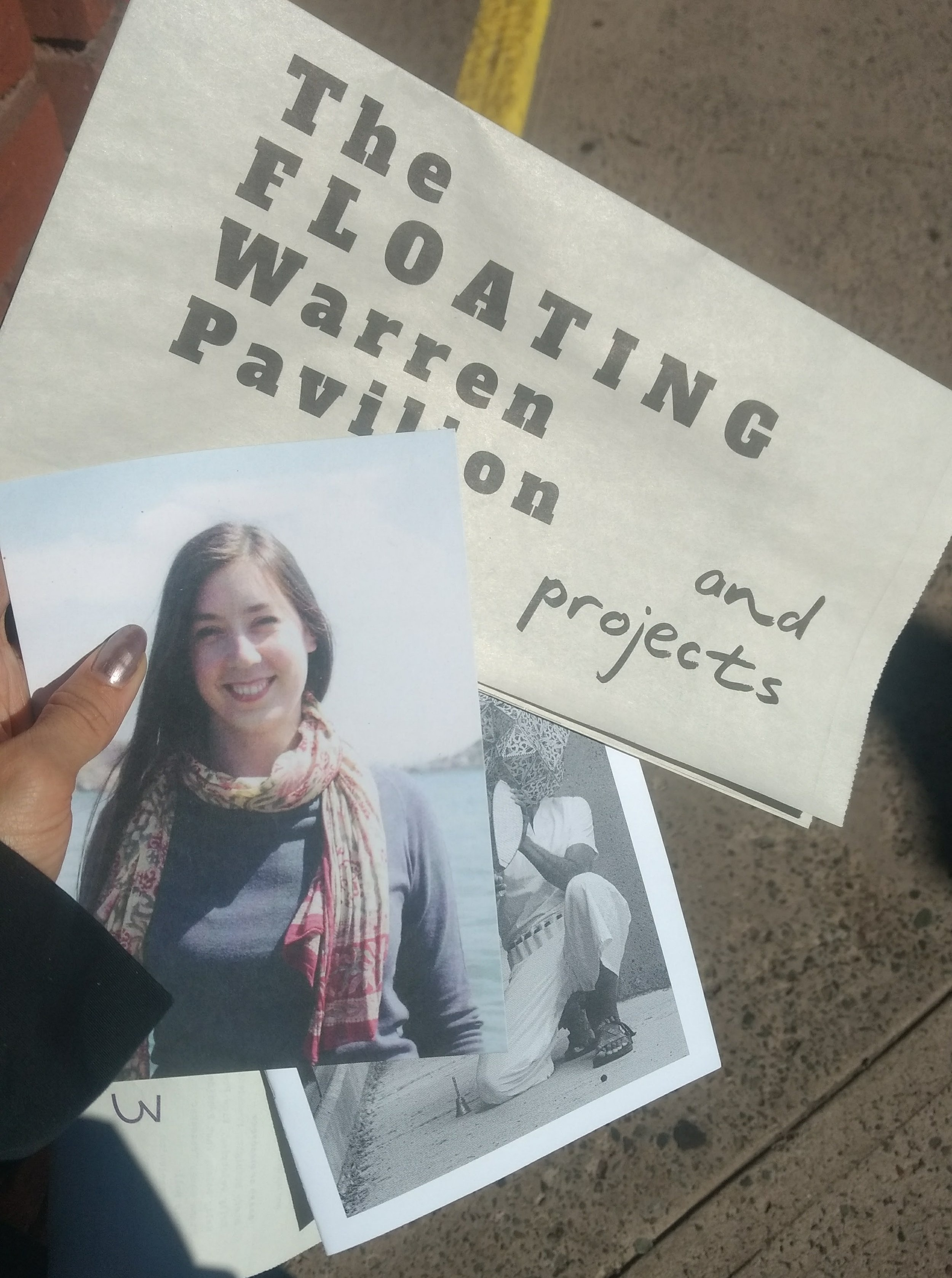 Printed matter distributed at Flotilla included a dedication to Mary's legacy. Photo: Amanda Shore