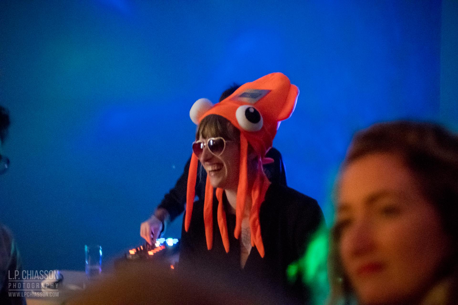 Becka Viau as a Safety Squid. Photo: LP Chiasson & Festival Inspire.