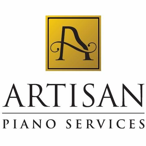 Artisan Piano services logo. the artisan logo appears centered on top and artisan piano services in text below