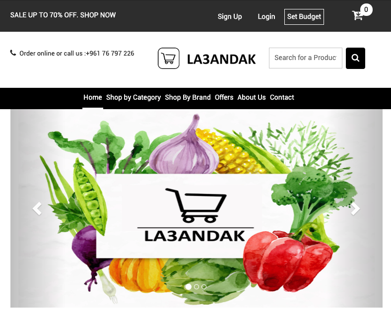 La3andak     (Grocery delivery)