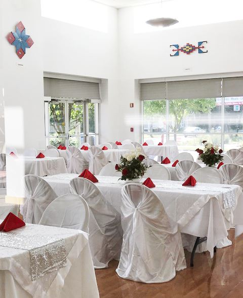 """Wedding Ceremonies and Receptions - Our unique layout allows you to go from ceremony to reception seamlessly, with space for a cocktail hour or mingling in between. Say, """"I do,"""" in our beautiful, sunny Community Room and then dance the night away with up to 300 guests in our expansive gym space."""