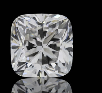 CUSHION SQUARE - The square Cushion Cut is a modified brilliant best described as a square with rounded corners.
