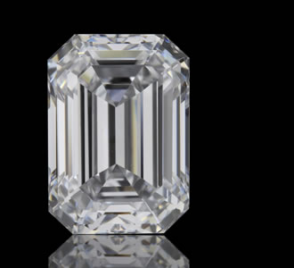 EMERALD - The Emerald Cut diamond is a cut-cornered step-cut diamond, normally a rectangular shape. Emerald Cuts can also be square, similar to an Asscher Cut.