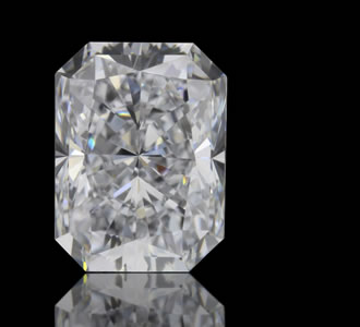 RECTANGULAR RADIANT - The Rectangular Radiant is a cut-cornered rectangular shape that has the brilliance of a round diamond. The brilliance is what sets it apart from the Emerald Cut.