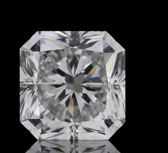 SQUARE RADIANT - The Square Radiant is a cut-cornered square shape that has the brilliance of a round diamond. The brilliance is what sets it apart from the Asscher Cut