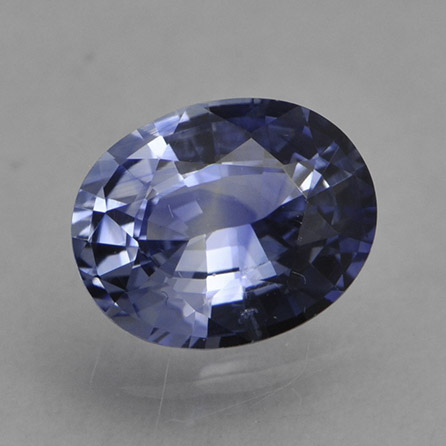 DENIM BLUE SAPPHIRE - This is a Blue Sapphire with a light clear blue color, rather than the traditional deeper and richer blue.