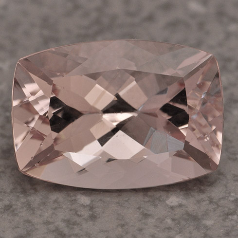 MORGANITE - Morganite is part of the Beryl family, which makes it a cousin of the Emerald and Aquamarine gemstones. It has a delicate pink color and was named after J.P. Morgan, an avid gem collector.Mohs Scale Rating: 7.5-8