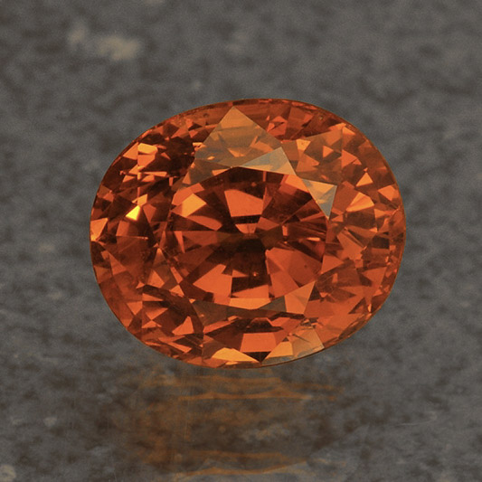 SPESSARTITE - Spessarite is part of the Garnet family and can be found in orange and brown colors. It has a hardness of 6.5-7.5 on the Mohs scale.