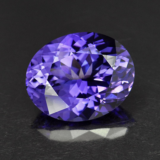 TANZANITE - Tanzanite is a purple gemstone that is mined exclusively in Tanzania. It has a hardness of 6-7 on the Mohs scale.