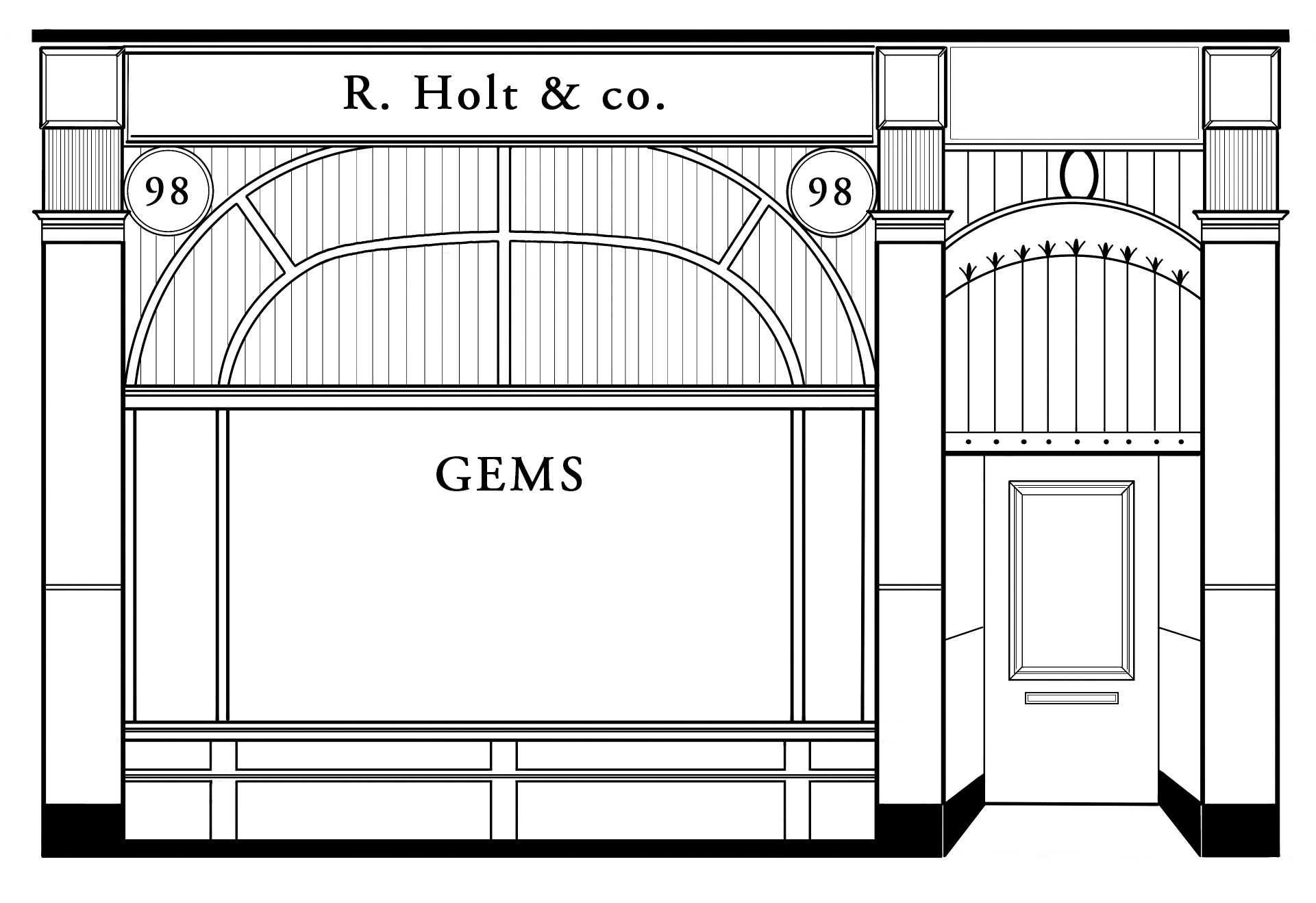 the Holts Gems store first opened in 1948, looking a little something like this. We still stand proud at the same location with our newly refurbished, contemporary studio
