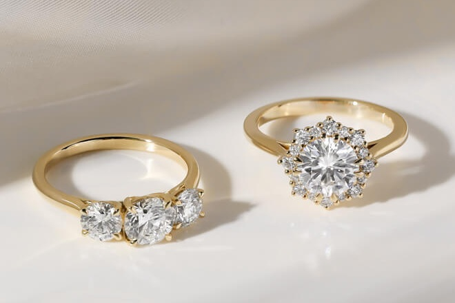 Creating a yellow gold engagement ring - Read the guide