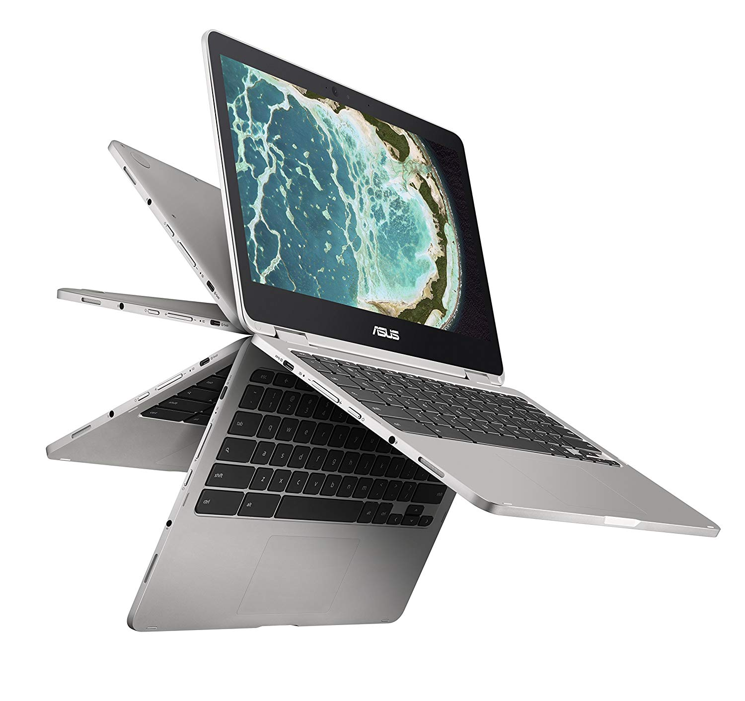 Home-school Computer: Chromebook Flip 12.5-inch Touchscreen Convertible Chromebook, Intel Core m3, 4GB RAM, 64GB Flash Storage, All-Metal Body, USB Type C, Corning Gorilla Glass, Chrome OS