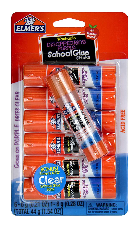 Glue sticks: Elmer's Glue Stick (E4062) (7 sticks)