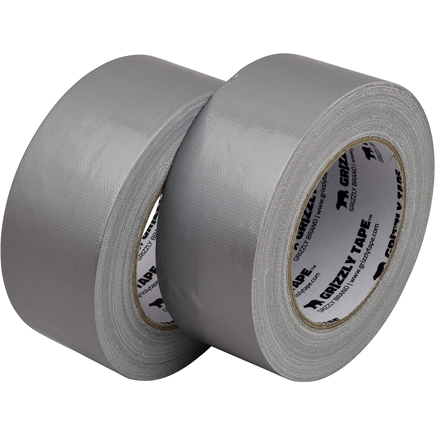 Duct Tape: Grizzly Brand Professional Grade Duct Tape, Silver Color Multi Pack, 11mil Thick (1.88 inch x 30 Yards), 48mm x 28m, 2-Pack Rolls