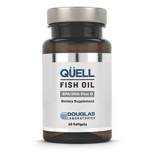 Fish Oil: Douglas Laboratories - QUELL Fish Oil EPA/DHA Plus D - 3:2 Ratio of EPA & DHA Essential Omega 3 Fatty Acids Plus 1,000 I.U. of Vitamin D3-60 Softgels