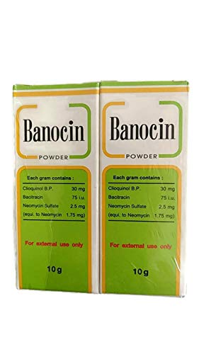 Antibiotic Powder: 2 X Banocin Antibiotic Powder - Infected Cuts Wounds T Free Shipping