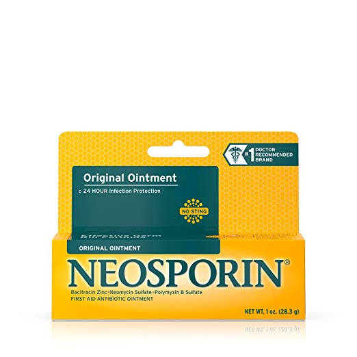Neosporin: Original First Aid Antibiotic Ointment For 24-hour Infection Protection, Wound Care Treatment and the Scar appearance minimizer for Minor Cuts, Scrapes and Burns, 1 oz