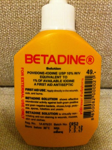 Betadine for cuts: Betadine Povidone Iodine First Aid Solution Antiseptic for Cuts Wounds 15cc