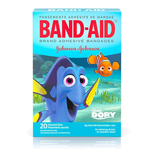 Character Band-Aids: Band-Aid Brand Adhesive Bandages, Disney/Pixar Finding Dory Characters, Assorted Sizes, 20 ct