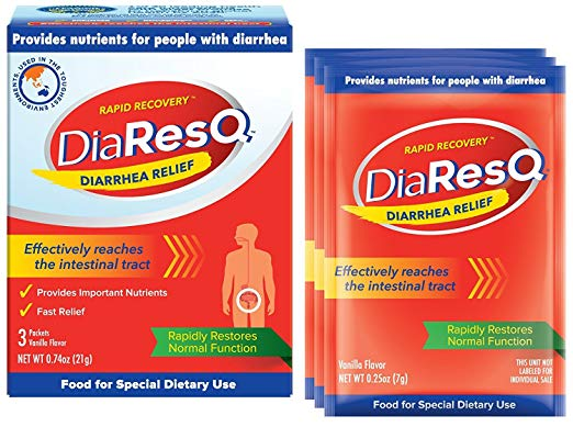 DiaResQ: Rapid Recovery Diarrhea Relief - 3 Packets, Pack of 2