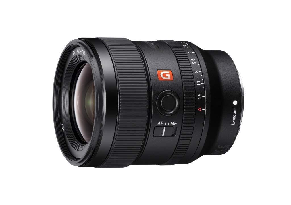 Camera Lens: Sony E-mount FE 24mm F1.4 GM Full Frame Wide-angle Prime Lens (SEL24F14GM), Black