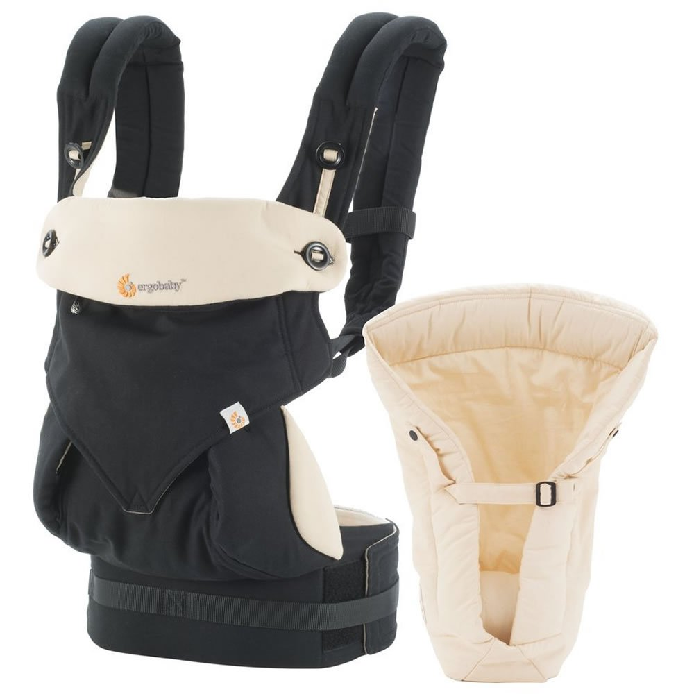 6 month Baby Carrier: Ergobaby Four Position 360 Bundle of Joy Baby Carrier Black Camel