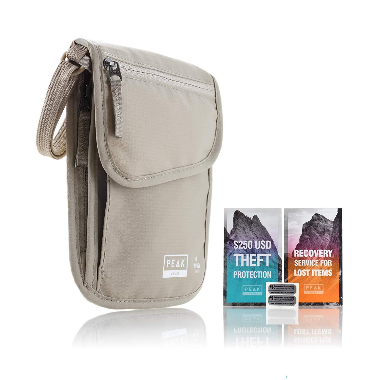 Our Passport holder: Neck Wallet & Hidden Passport Holder - RFID w/Theft Insurance and Lost & Found Service