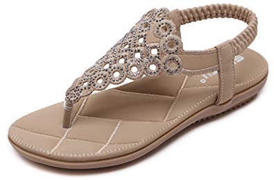 Leslie's Flip-Flops: DolphinBanana Women Beach Wear Flat Sandals Glitter Shoes Cruise Holiday Bohemian Flip Flops