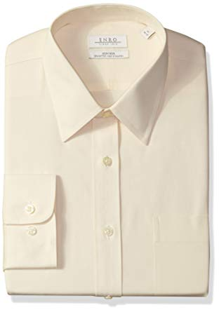 White Collared Shirt: Enro Men's Classic Fit Big-Tall Solid Point Collar Dress Shirt