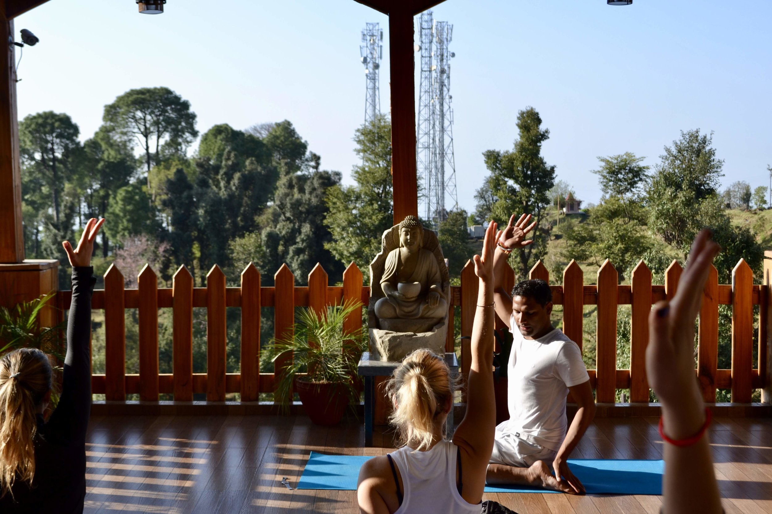 Morning Yoga Class in our Shala