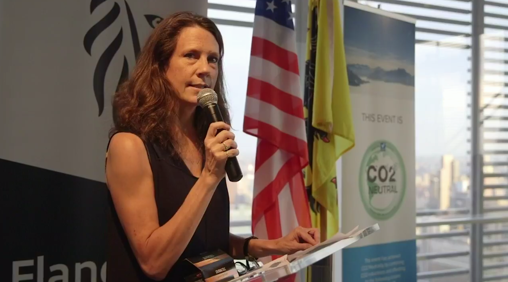 ISSP-NYC Founding Co-Chair Trisha Bauman  —  Flanders House New York  —  Climate Week 2017