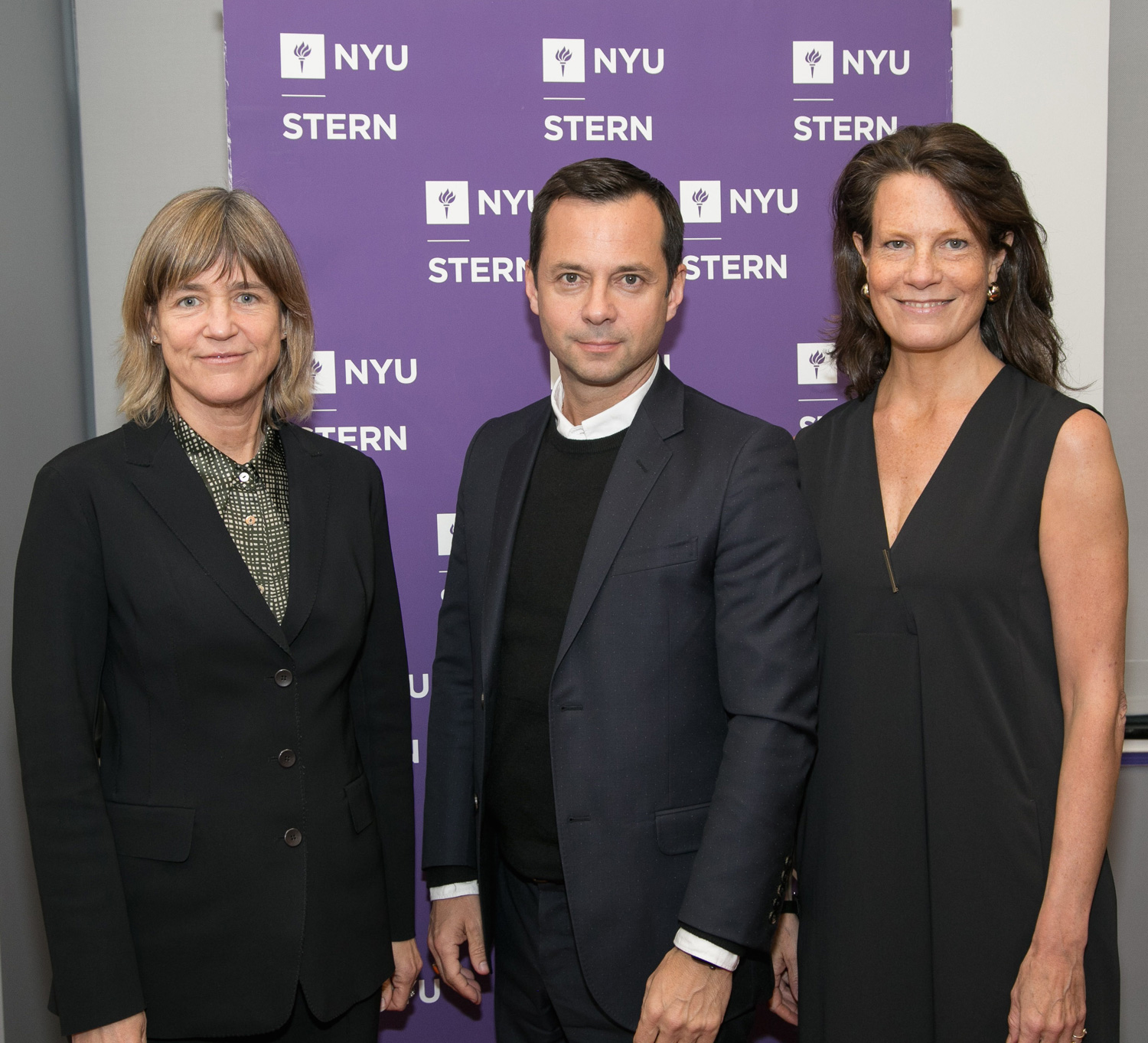 NYU-CSB Director Tensie Whelan; Laurent Claquin, Head Kering Americas; and ISSP-NYC Founding Co-Chair Trisha Bauman