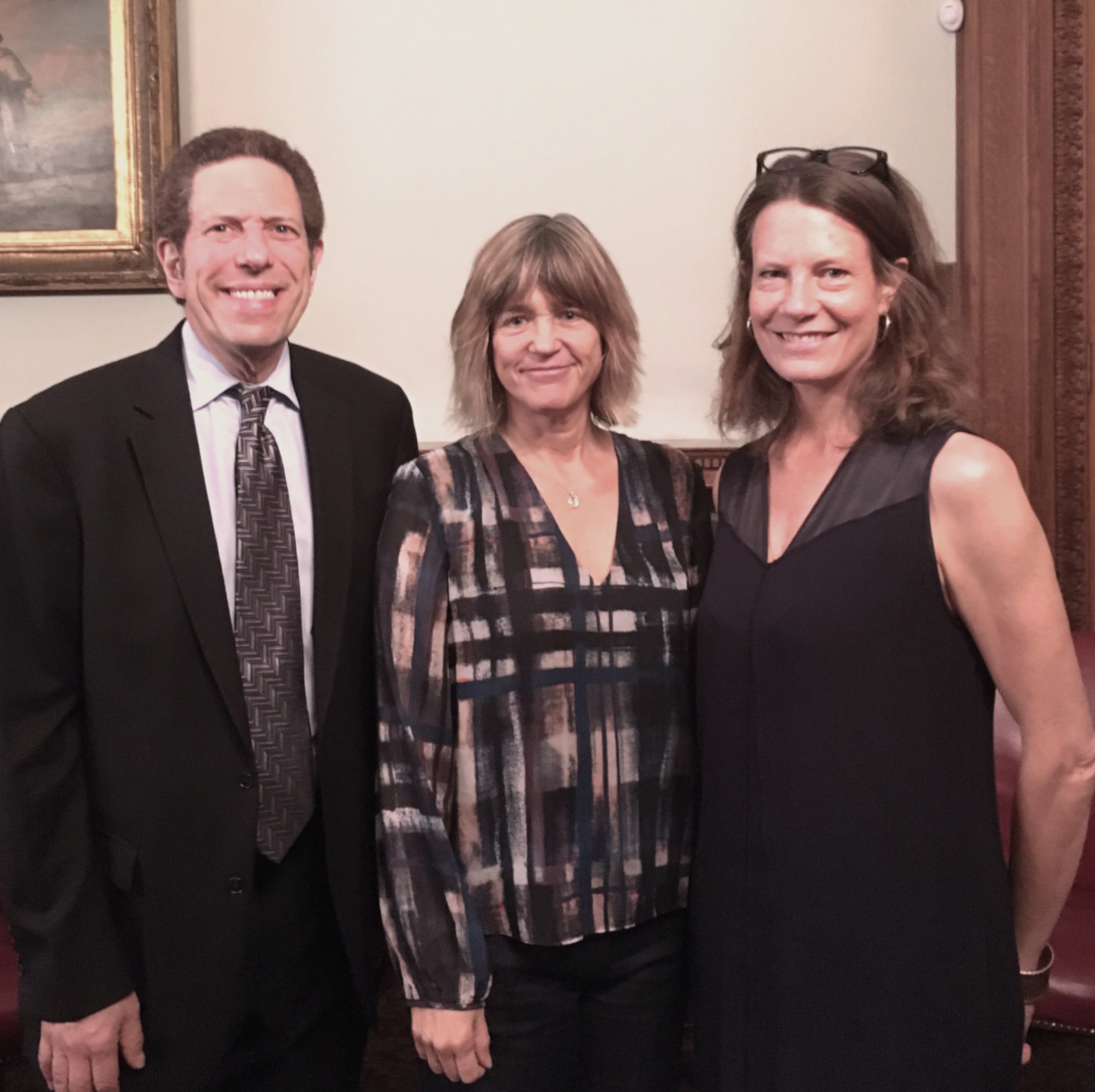 ISSP-NYC Founder&Co-Chair Mark Wolf, NYU-CSB Director Tensie Whelan, and ISSP-NYC Founding Co-Chair Trisha Bauman;