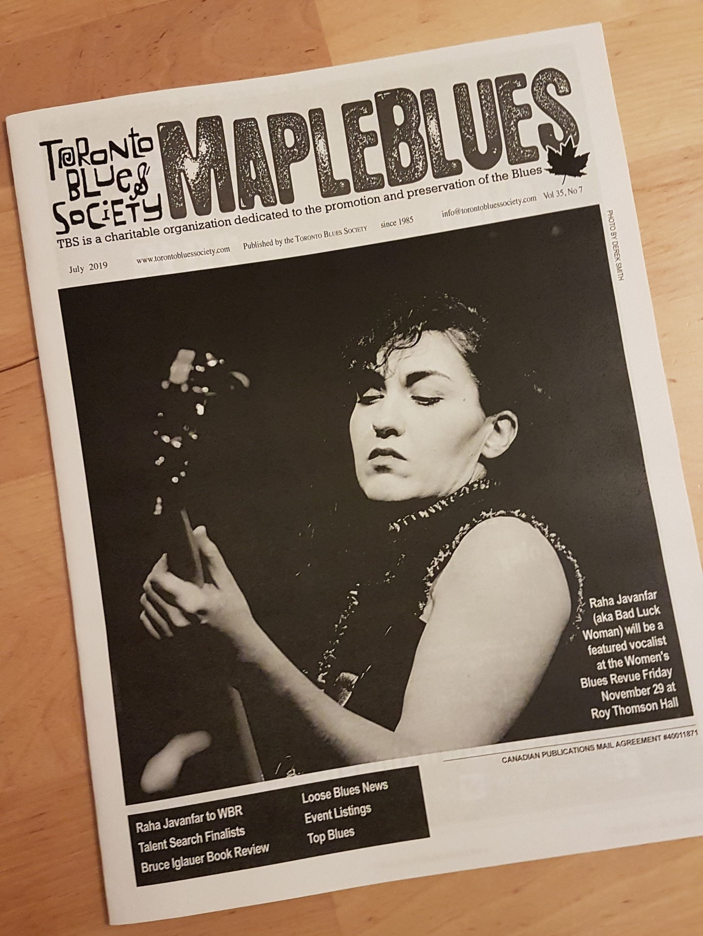 On the cover of July 2019 Maple Blues newsletter. Read the article  here .