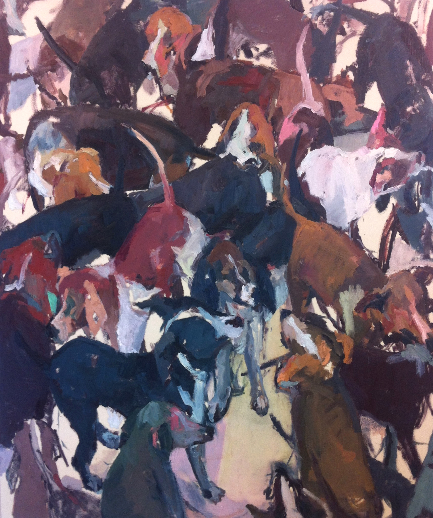 "Bull Pen,  72'""x60"", oil on canvas, 2013 / Contact Katie for pricing"
