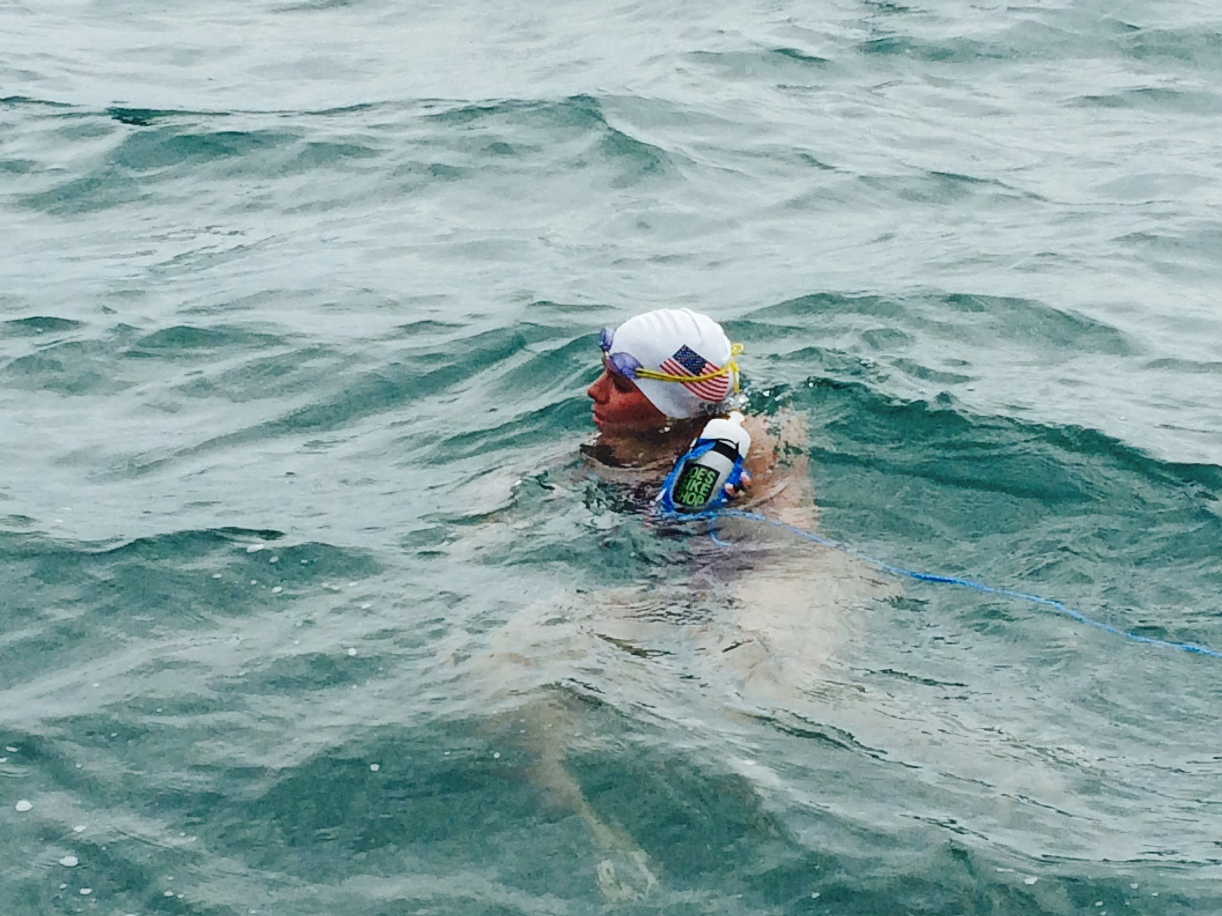 Katie swimming the English Channel in 2015