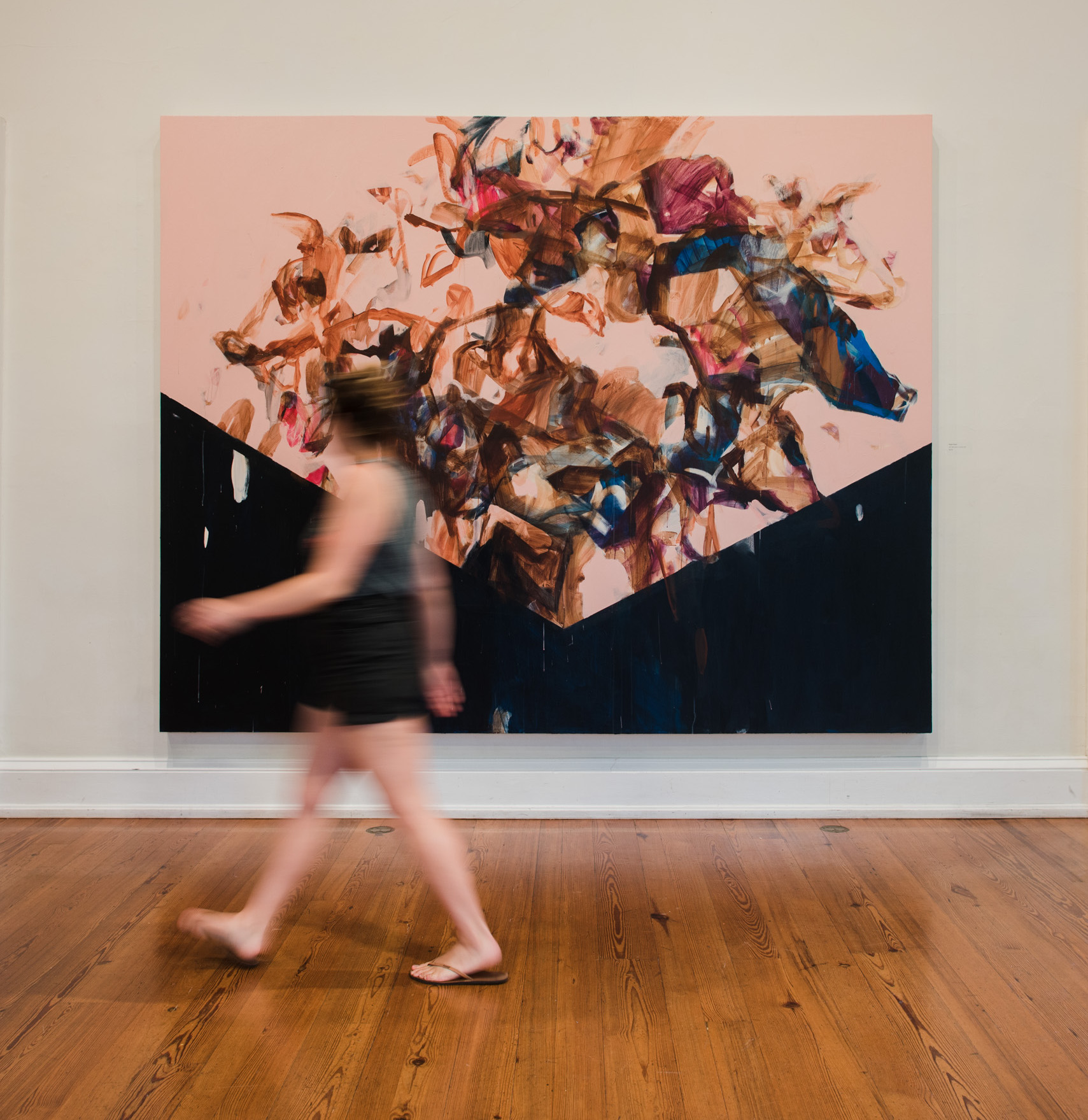 "Temper Tantrum , 120""x84"", acrylic on canvas, 2018 (photo by  Anna Reynal )"