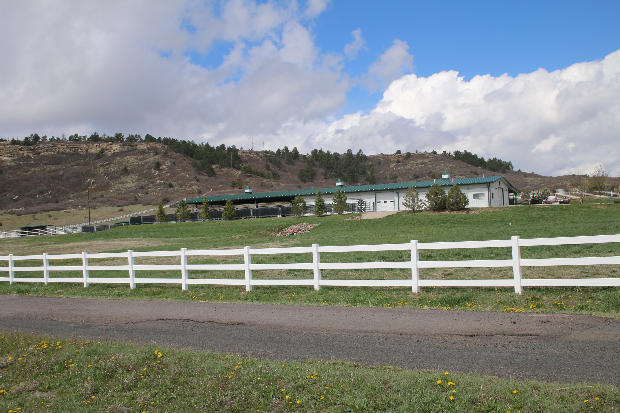 Healthcare center, where new horses are evaluated and treated. Photo by Carrie Dow.