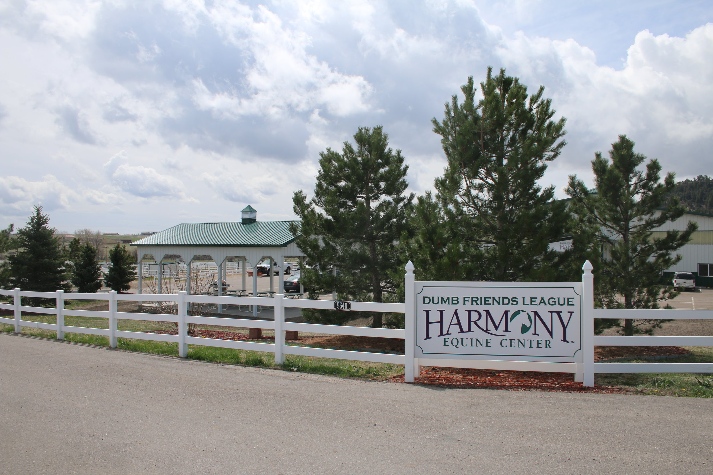 The bucolic setting of Harmony Equine Center in Franktown. Photo by Carrie Dow.