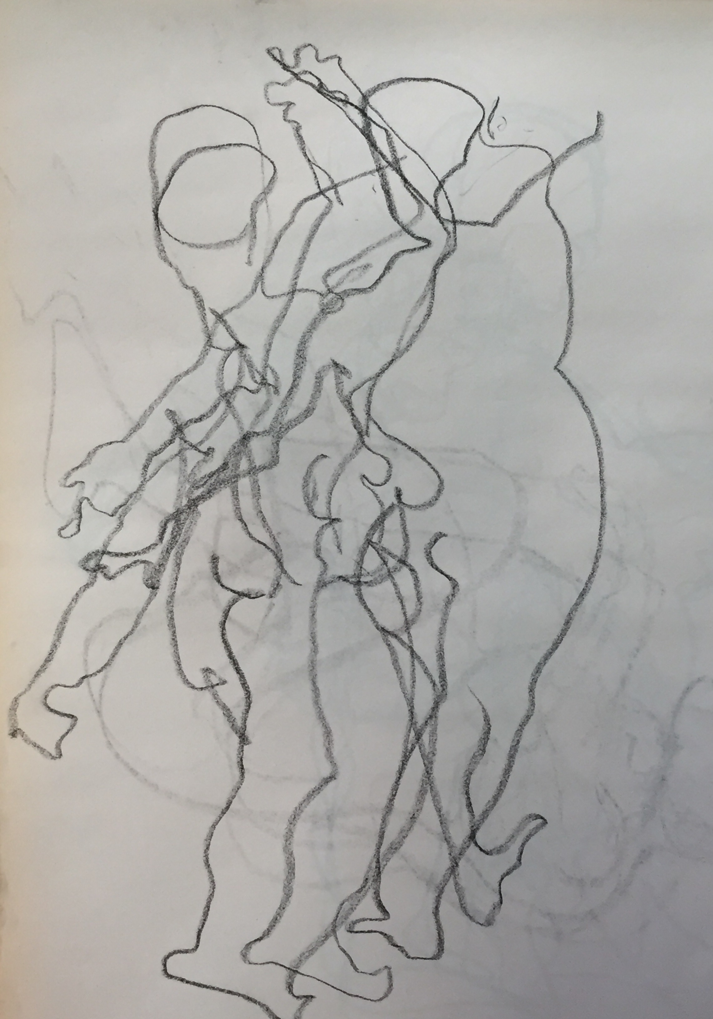 Blind Drawing-Twisting Figure