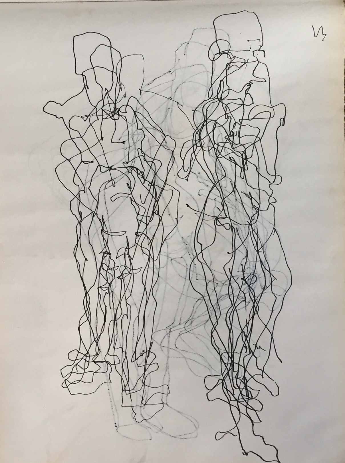 Blind Drawing Standing Figures