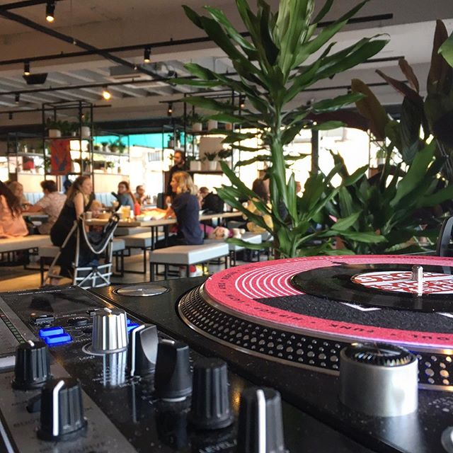The view from behind the decks 🙌🏼 📷 @andreaac providing tonight's tunes. A whole host of DJs perform every Friday and Saturday night disco 💃🏼 #stretford