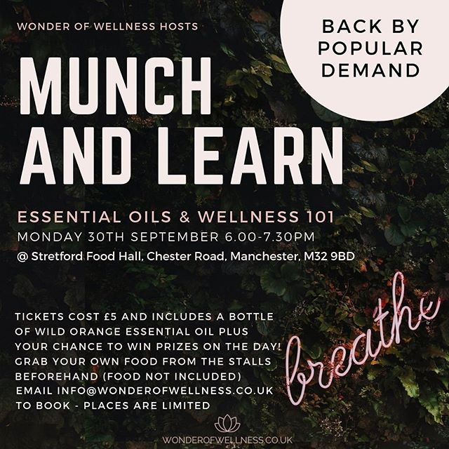 SAVE THE DATE // BOOK YOUR SPOT     @wonderofwellness are back again on 30 Sept after the success of their first event! #stretford