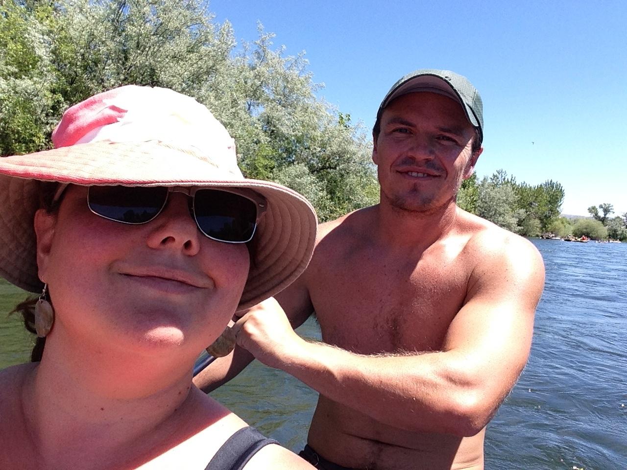 My Nicholas and I, kayaking in Idaho, 2014.