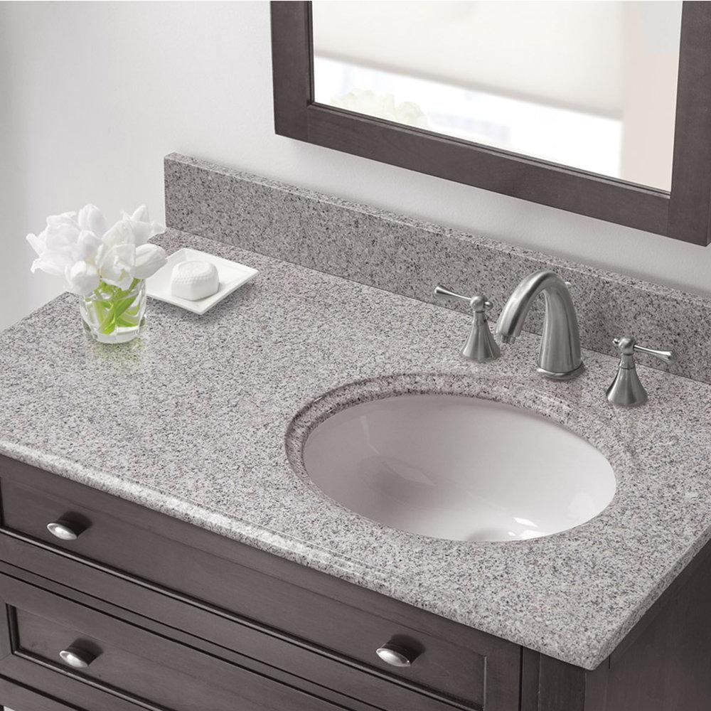37 In X 22 In Napoli Granite Right Offset Basin Vanity Top 8 In Faucet Spread Cahaba Designs