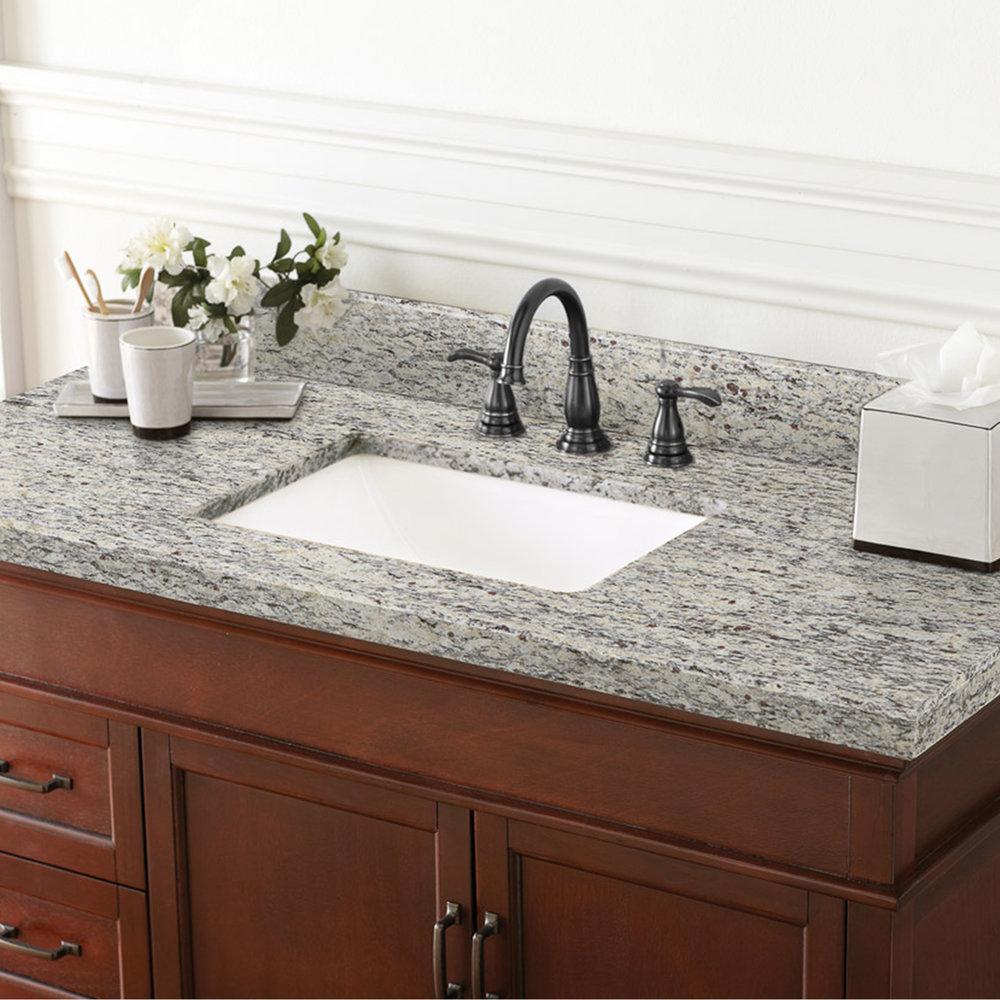 49 In X 22 In Santa Cecilia Granite Vanity Top 8 In Spread Cahaba Designs
