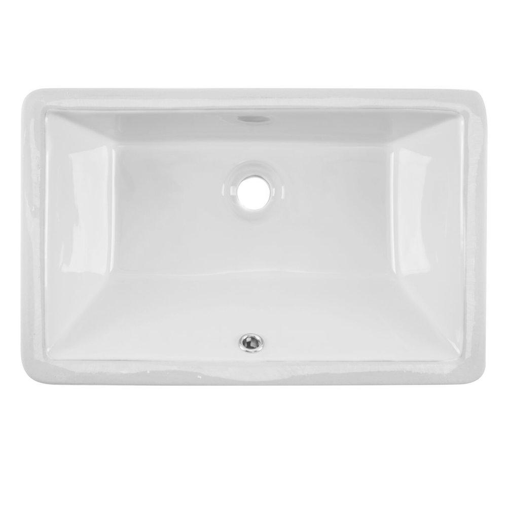 Undermount 21 In Glazed Porcelain Trough Bathroom Sink In White Cahaba Designs