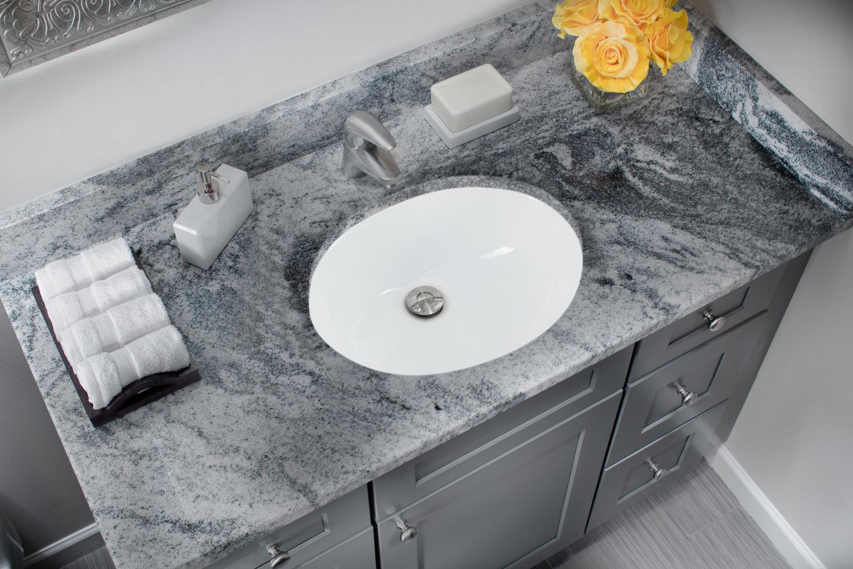 Glazed Porcelain Oval Bathroom Sink, Granite Sink Bathroom
