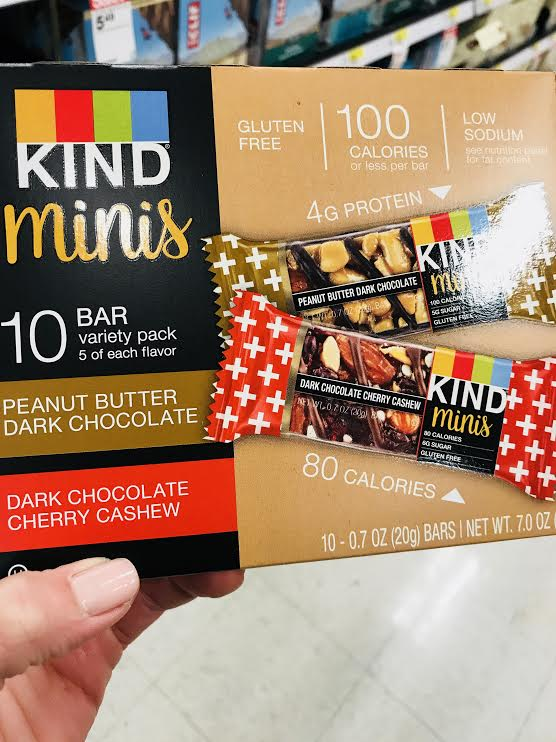 Kind Minis - Unlike the other products, these aren't actually marketed for kids. It's just that the mini size makes them a good option for a kid's snack. I like that they are made with nuts, but again, the ingredient list is kind of long with too many types of added sugars. Be aware as some flavors also contain soy protein isolate. (Note: produced in a facility with many allergens)